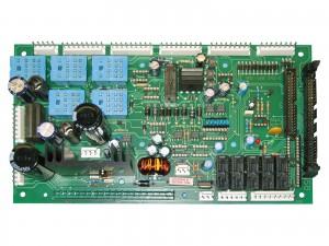 THT bestückte Relaiskarte einer Strickmaschinen-Steuerung